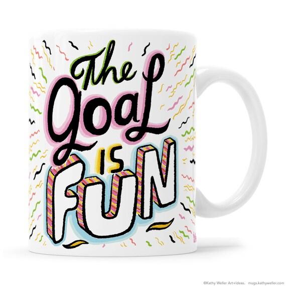 Funny Mug objectifs Mug tasse mignon positivité Mug cadeau pour collègue BFF Mug positivité collègue Mug Inspirational Gift sarcasme cadeau avoir des trucs
