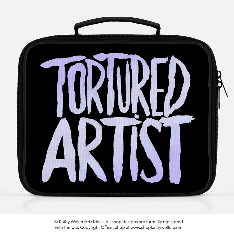 Tortured Artist Lunch Box Artist Bag Aesthetic Goth Tote Purple