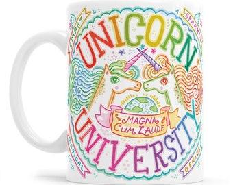 Unicorn University, School gift, Love is Love, Unicorn School, Girl Power Unicorn, LBGTQIA gift, Unicorn office gift, Unicorn tea