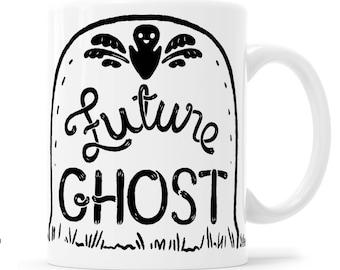 Future Ghost Halloween Humor Cup of Death Halloween Mug Pastel Goth Graveyard Mug Gravestone Mug Tombstone Mug Headstone Mug Grave Mug