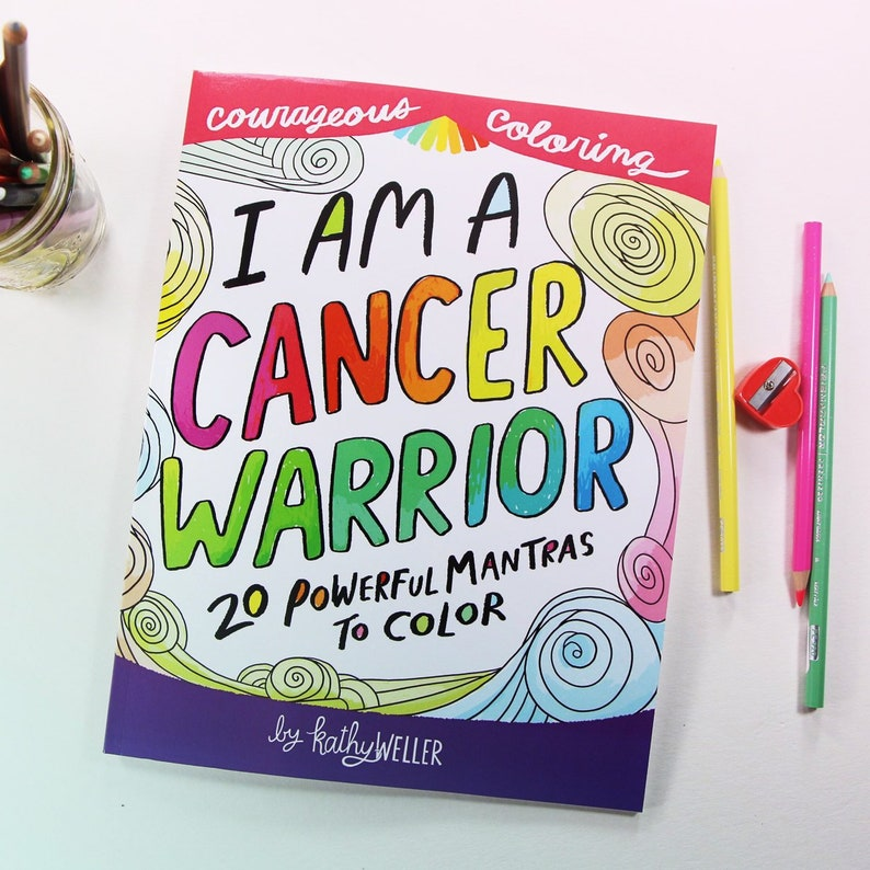 Breast Cancer Book, Cancer Coloring Book, Chemo Support Gift, Cancer Gift,  Radiation Treatment, Chemotherapy Gift, Breast Cancer Gift
