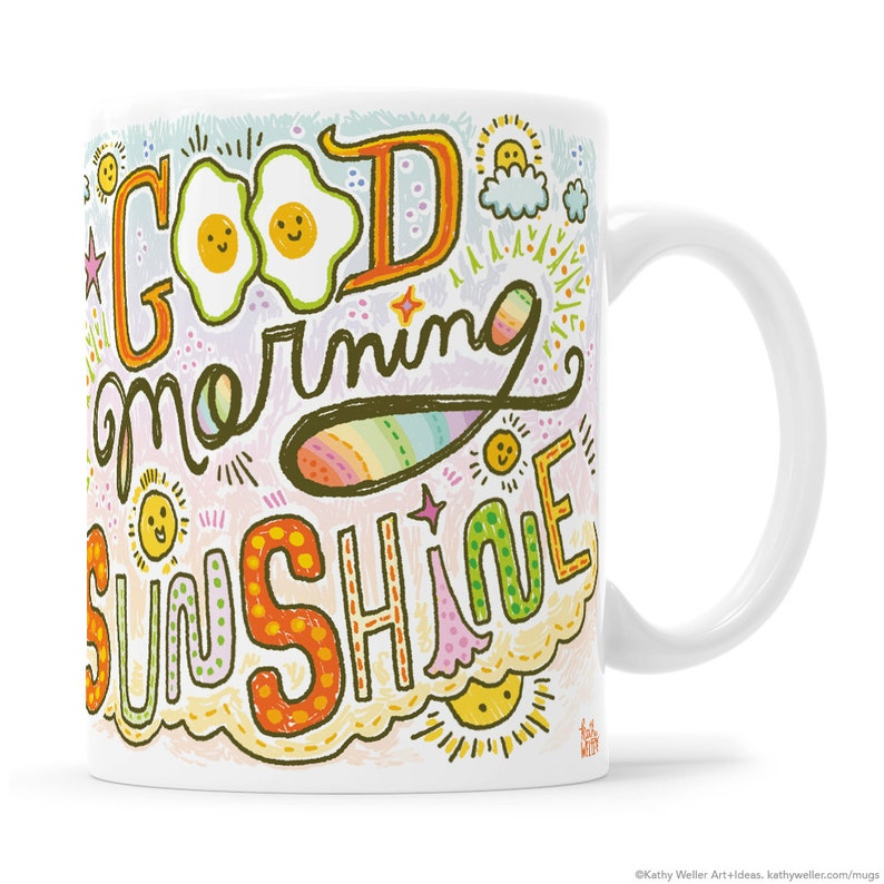 Cute Egg Mug Sunny Side Up Morning Person Gift Good Morning image 0