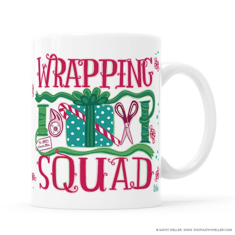 Wrapping Squad Mug Christmas Gift Under 30 Holiday Mug Funny 11 Fluid ounces