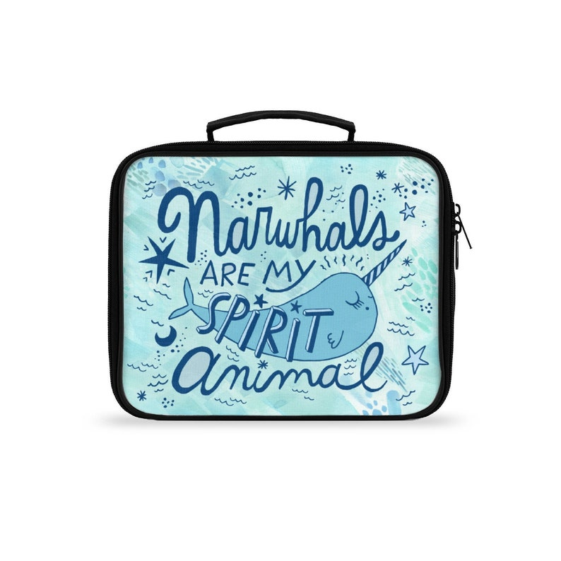 Narwhal Lunch Box Narwhal Lunch Bag Insulated Lunch Box Kids image 0