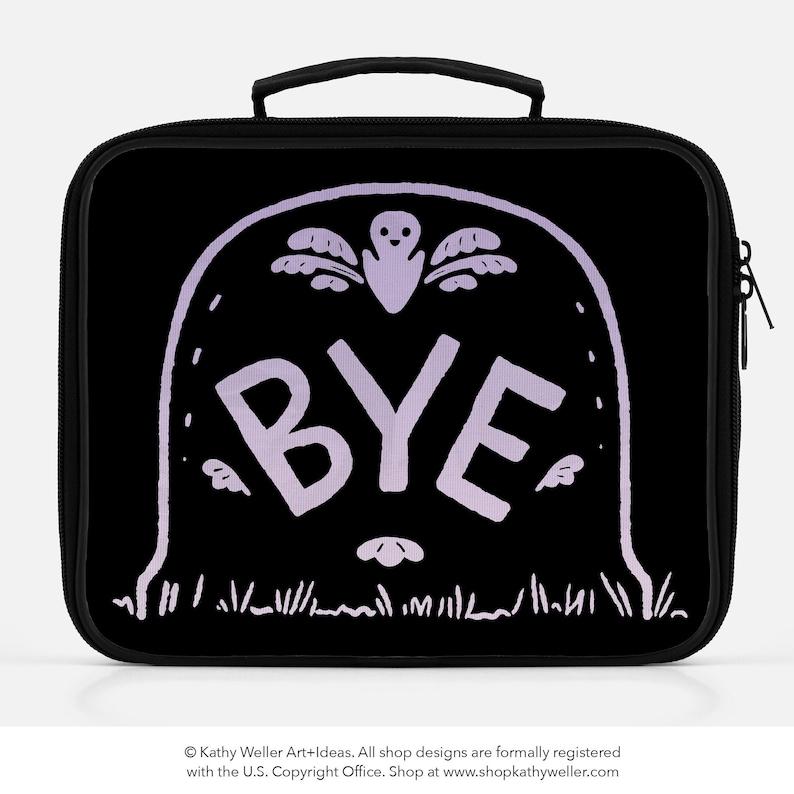 Bye Lunch Box Goth Bag Insulated Bag Ghost Bag Fairy Kei BYE