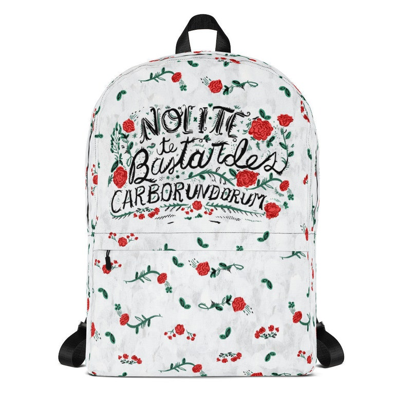 Nolite Te Bastardes Carborundorum Backpack Handmaid's Tale White Vintage
