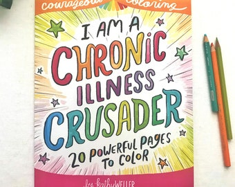 Coloring Book, Self Care, Chronic Pain, Autoimmune Gift, Spoonie Gift, Lupus Support, Multiple Sclerosis Gift, Hypothyroid Support Gift
