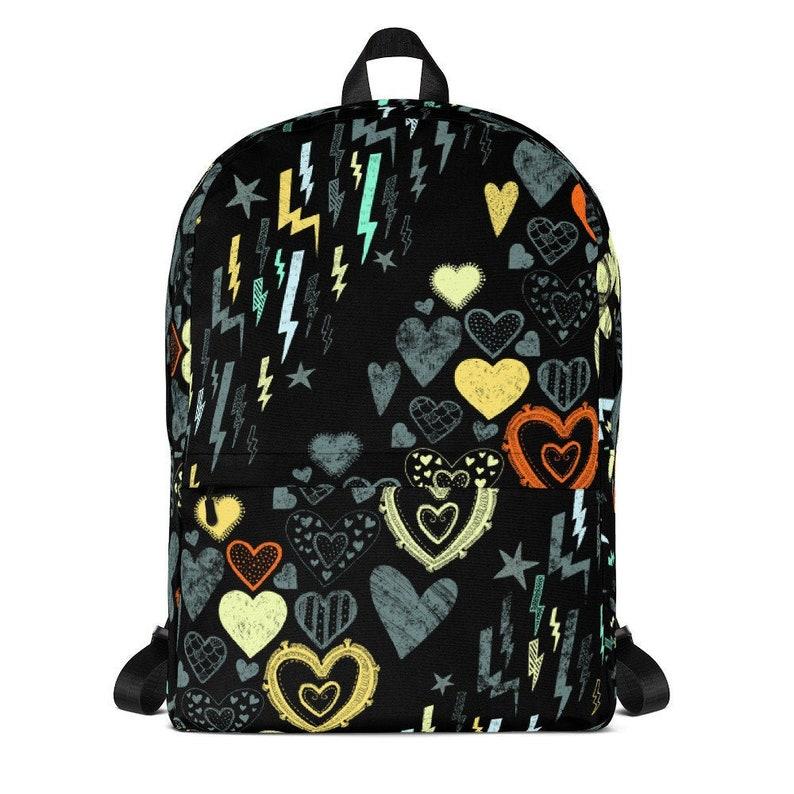 Aesthetic Backpack Goth Backpack Soft Grunge Alternative image 0
