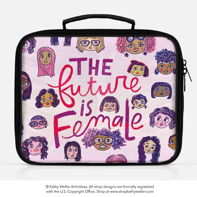 The Future Is Female Girls Lunch Box Feminist Lunch Bag Smash image 0