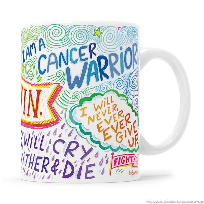 Cancer Mug Chemotherapy Gift Breast Cancer Mug Cancer image 0