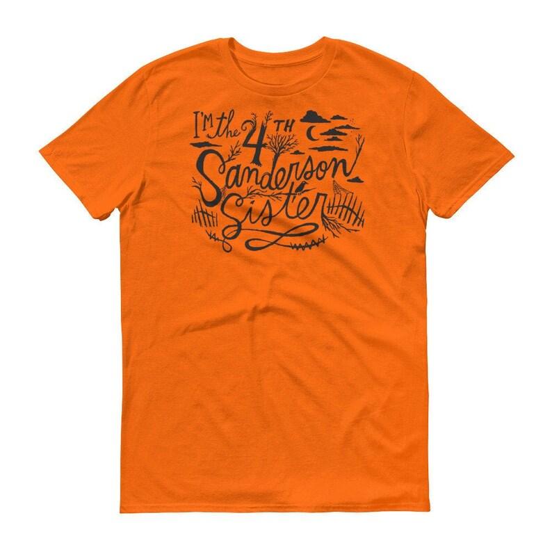 4th Sanderson Sister Hocus Pocus Shirt Short-Sleeve T-Shirt Mandarin Orange