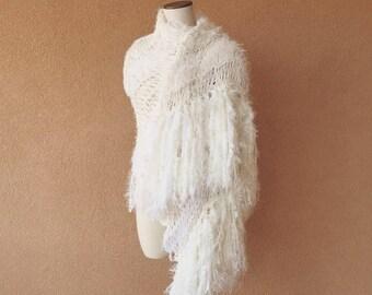 ddd08d812 Wedding Scarf Wedding Shawl Wedding Woman Like Sherpa Scarf Winter White  Wrap Bridal Shawl Wedding Lace Wedding Woman Shawl Ivory Cream