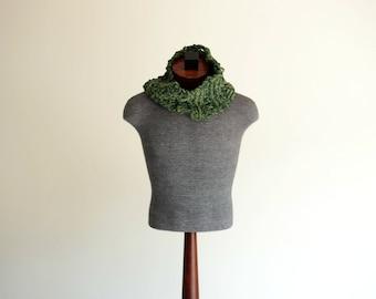 Knit Neckwarmer Scarf Knit Cowl Circular Scarf Knit Neck Wrap