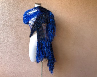 Peacock Costume Piece Shawl by Stevie Nicks Shawl Designer Crickets Meyeres Blue Black Purple Wrap for Belly Dancing