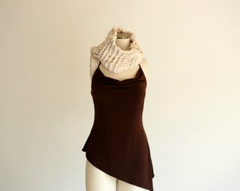 Infinity Cowl Neck Infinity Scarf Knit Cowl Cream Chunky Scarf Chunky Cream Cowl Knit Accessories