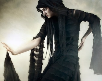 Black Suspiria Gown by Kambriel ~ Darkly Ethereal Couture Design ~ Brand New & Ready to Ship!