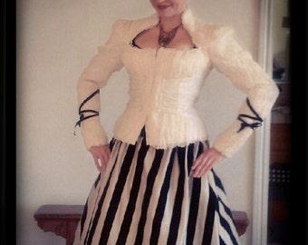 Striped Vertigo Skirt by Kambriel - Designer Sample Ready to Ship