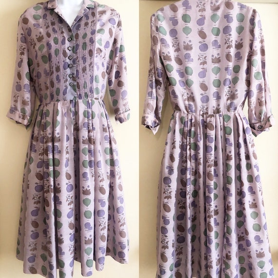 Vintage Kabro of Houston Shirtdress Novelty Fruit