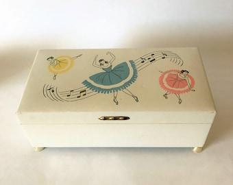 Vintage Girl's Jewelry Box Ballerina Music Box Child's Little Girl