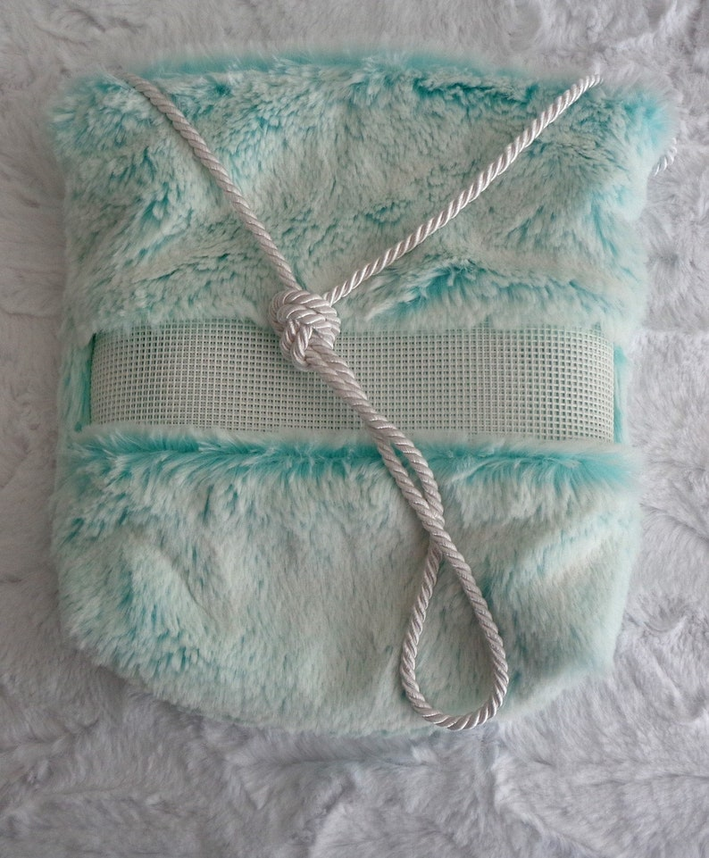 Saltwater and Saltwater Frost Luxury Minky Fur Bonding Pouch zippered pouch Bonding Pouch Sugar Glider Bonding Pouch