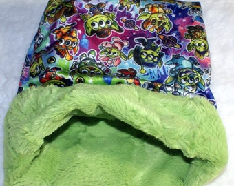 Monster Snuggle Sack - Halloween Print - Tiny Pet Cuddle Bag