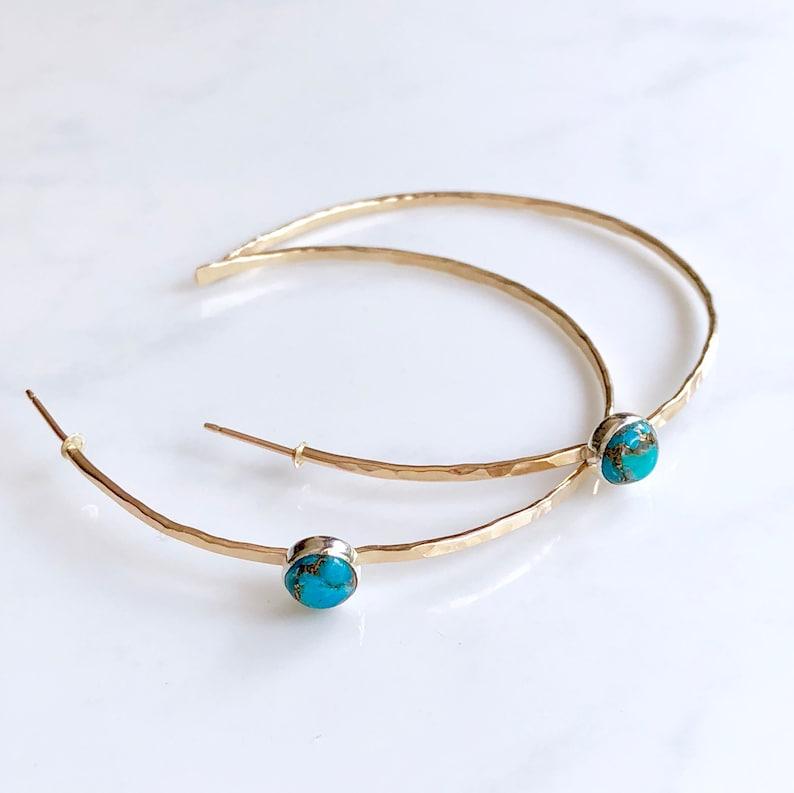 Modern turquoise hoops