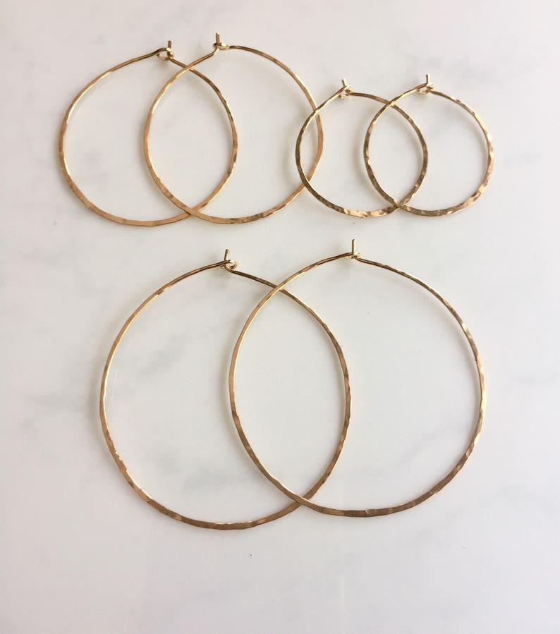 Large circle hoop-14kt gf