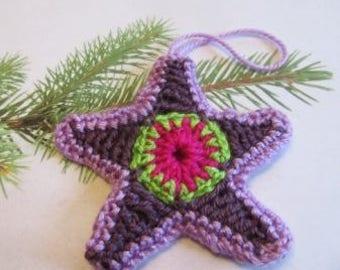 Star Making.......Star Giving star ornaments  handmade crochet stars
