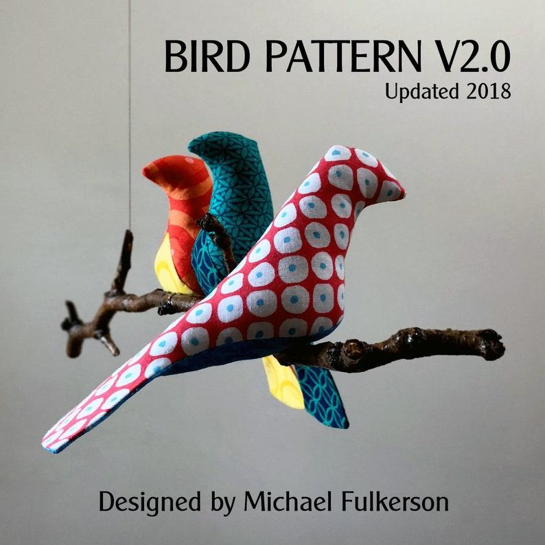 Bird Pattern  Two Sizes image 0