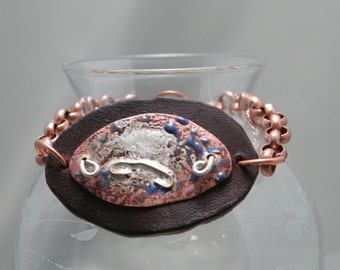 Bracelet of Copper and Leather