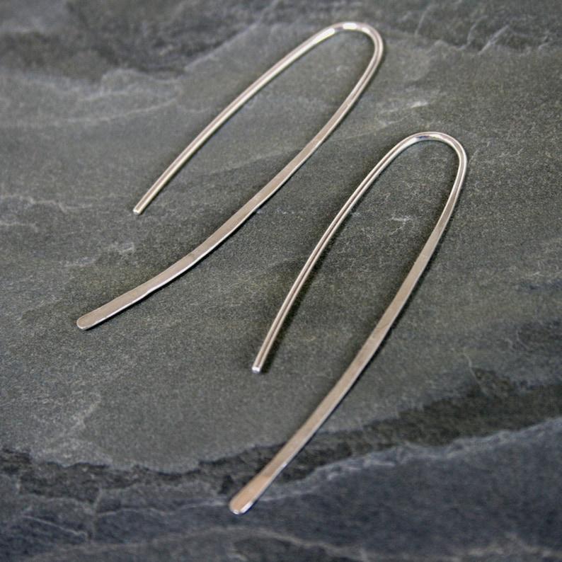Modern Minimalist Sterling Silver Earrings Elegant image 0