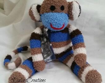 Samuel the sock monkey ready to ship
