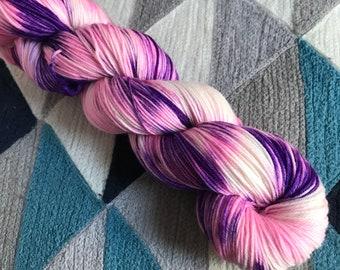 Hand-dyed yarn, Indie dyed yarn, hand dyed yarn FORCE MAJEURE -- ready to ship -- Times Square sock weight merino/nylon yarn