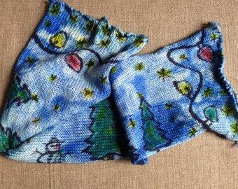 Handgefärbtes Garn, Indie Garn gefärbt, hand gefärbte Garn WINTER WONDERLAND gefärbt, um die Bestellung von Hand bemalt Sock Blank Merino/Nylon Doppel gestrandet