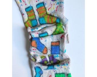 Handgefärbtes Garn, Indie Garn gefärbt, handgefärbte Wolle Betrieb Socke Schublade - gefärbt, um zu bestellen - Hand-bemalt Sock Blank Merino/Nylon Doppel gestrandet