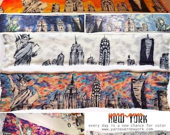 Handgefärbtes Garn, Indie Garn gefärbt, handgefärbten Garn NYC SKYLINE - gefärbt, um Bestellung--handbemalte Sock Blank Merino / Nylon Doppel gestrandet