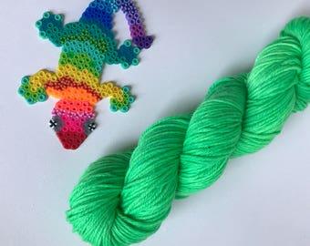 Hand-dyed yarn, Indie dyed yarn, hand dyed yarn St PADDY'S DAY PARADE --ready to ship-- Brooklyn Bridge worsted weight superwash merino yarn