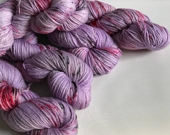 Hand-dyed yarn, Indie dyed yarn, hand dyed yarn I <3 NY Purple T-Shirt -ready to ship- Brooklyn Bridge worsted weight superwash merino yarn