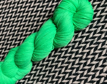 Hand-dyed yarn, Indie dyed yarn, hand dyed yarn St PADDY'S DAY PARADE --dyed to order-- Times Square sock weight merino/nylon yarn