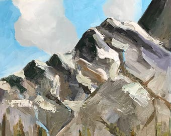 Mountain Painting, Oil Painting, Landscape