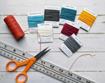10 yards Crawford Waxed Linen Thread, 4 ply, Choose a color