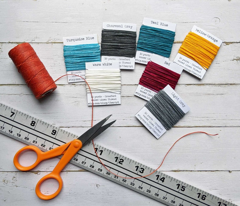 10 yards Crawford Waxed Linen Thread 4 ply Choose a color image 0