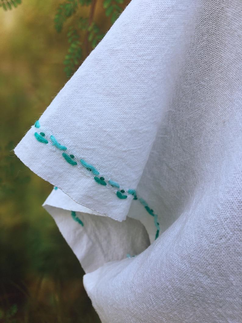 Medium embroidered cotton hippie top Mexico boho smock  1239998