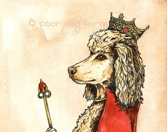 Poodle Queen (an original hand painted queen)