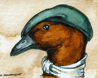 The Finsch's Duck~~ No 71 of 100 series- ~ signed watercolor print
