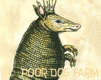 Armadillo QUEEN (an original hand painted king)