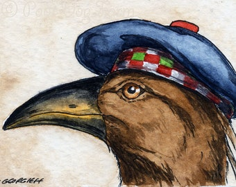 The South Island Adzebill~~ No 90 of 100 series- ~ signed watercolor print