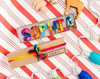 Kids HOLIDAY GIFT Crayons - Crayon Name Set - Custom Alphabet Name Crayons in a Gift Box - Crayon Toy - Birthday Gift Kids - Christmas Gift