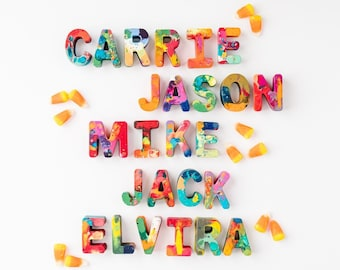 Kids Halloween Gift Crayon Name - Crayon Name Set - Custom Alphabet Name Crayons - Crayon Toy - Birthday Gift Kids - Halloween Favor Boxed