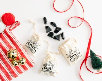 Kids Crayon Stocking Stuffer - North Pole Coal Original Rainbow Crayons® - Bag of 7 Mini Black Coal Crayons - Christmas Stocking Stuffer